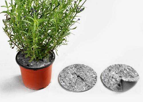 Dyski, krążki doniczkowe z włókniny przeciw chwastom, do stosowania w szkółkarstwie i ogrodnictwie